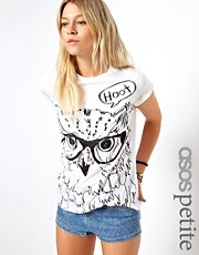 ASOS PETITE Exclusive Owl T-shirt