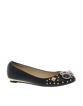 Image 1 ofALDO Simivalley Jewelled Ballet Flats