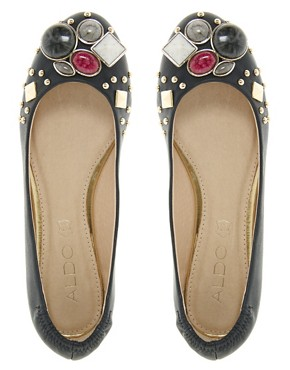 Image 2 ofALDO Simivalley Jewelled Ballet Flats