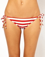 French Connection Sun And Sea Stripe String Bikini Bottom