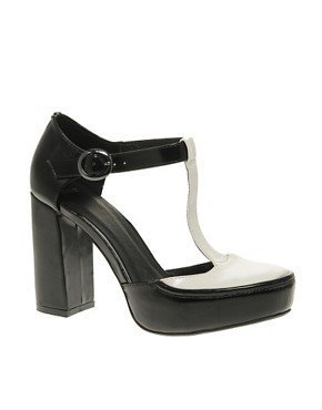 Image 1 ofASOS PARROT T Bar Platform High Shoe