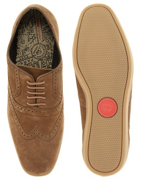 Image 3 ofBase London Refresh Suede Brogue Shoes