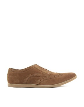 Image 4 ofBase London Refresh Suede Brogue Shoes