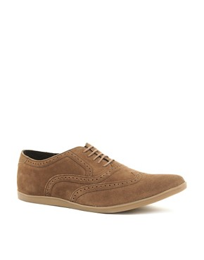 Image 1 ofBase London Refresh Suede Brogue Shoes
