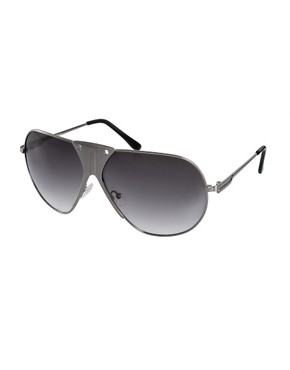 Image 1 ofASOS Premium Mixed Metal Aviator Sunglasses