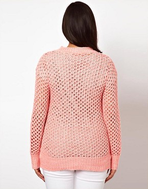 Image 2 ofASOS CURVE Exclusive Jumper In Open Stitch