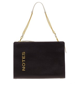 Image 1 ofMoschino Cheap &amp; Chic Leather Notes Bag