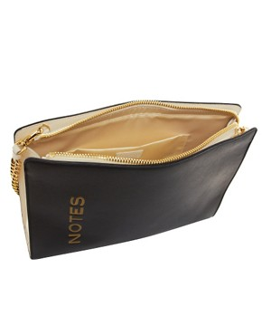 Image 2 ofMoschino Cheap &amp; Chic Leather Notes Bag