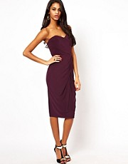 ASOS Bandeau Midi Dress