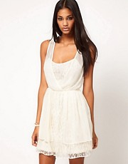 ASOS Skater Dress with Lace Detail