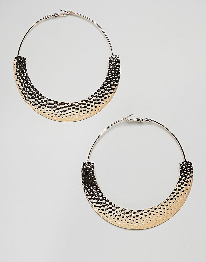 Золотистые серьги-кольца ASOS DESIGN - Золотой