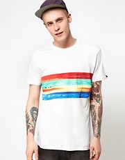 Analog T-Shirt Four Bands Surf Print
