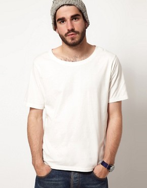 Image 1 ofNudie Wide Neck T-Shirt