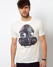 Paul Smith Jeans T-Shirt with Gas Mask Print