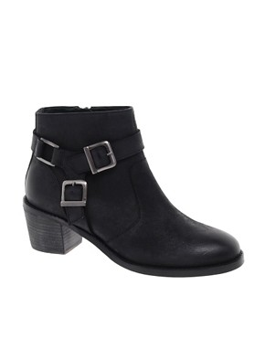 Image 1 of ASOS ASTEROID Leather Ankle Boots with Stirrup