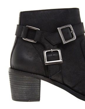 Image 3 of ASOS ASTEROID Leather Ankle Boots with Stirrup
