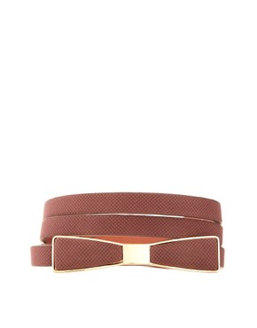 Image 1 ofASOS Bow Waist Belt With Metal Plate Detail