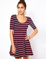 Motel Striped Skater Dress