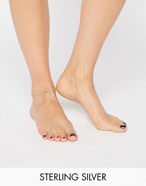 Dogeared Gold Plated Step It Up Disc Chain Anklet