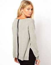 ASOS Sweater With Zip Back Detail