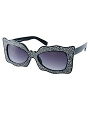 ASOS Wavy Glitter Cat Eye Sunglasses