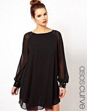 ASOS CURVE Shift Dress with Jewelled Cuff