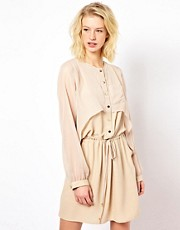 71 Stanton Drawstring Chiffon Mix Dress
