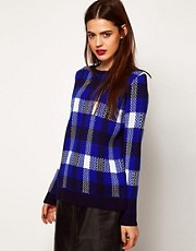 ASOS Jumper In Blue Check