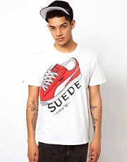 Puma T-Shirt With Suede Sneaker Print