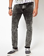 River Island Skinny Vinny Acid Wash Jeans
