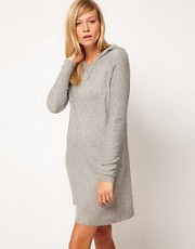 ASOS Hoody Jumper Dress In Angora Mix