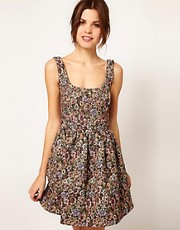 Warehouse Tapestry Dress
