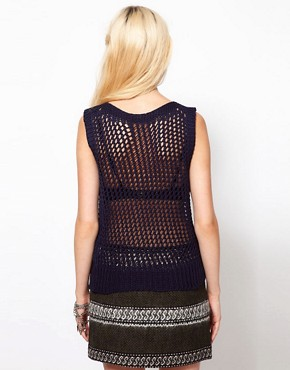 Image 2 ofEdun Fishnet Knitted Tank Top