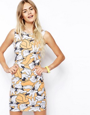 ASOS Bodycon Dress in Mickey Hand Print