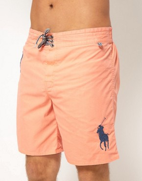 Image 1 ofPolo Ralph Lauren Large Polo Player Sanibel Swim Shorts