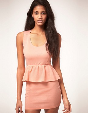 Image 1 ofOh My Love Jersey Peplum Dress