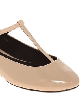 Image 3 ofASOS LEIGH Patent Ballet Flats with T-bar