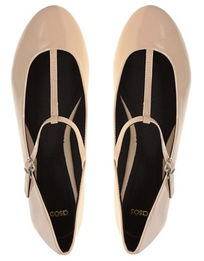 Image 4 ofASOS LEIGH Patent Ballet Flats with T-bar