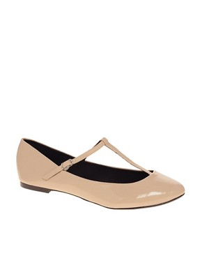 Image 1 ofASOS LEIGH Patent Ballet Flats with T-bar