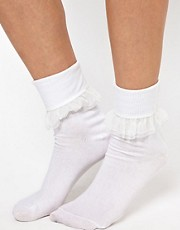 American Apparel Girly Lace Ankle Socks