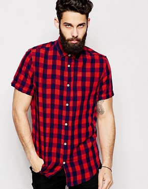 River Island Check Shirt With Short Sleeves