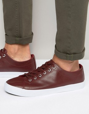 Bellfield Plimsolls In Red