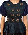 Image 3 ofThree Floor Sensation Top With Peplum And Jewel Embellishment