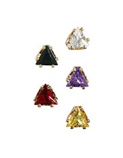 ASOS Multipack Triangle Stud Earrings