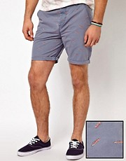 ASOS Chino Shorts With Cars Print