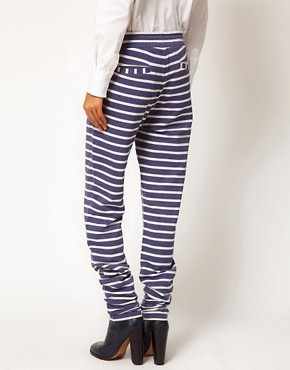 Image 2 ofASOS Joggers in Washed Stripe Sweat