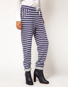 Image 4 ofASOS Joggers in Washed Stripe Sweat