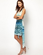 Warehouse Seascape Print Maxi Dress