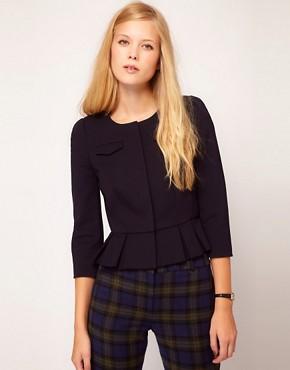 Image 1 ofNW3 Fitted Ponti Jacket with Peplum