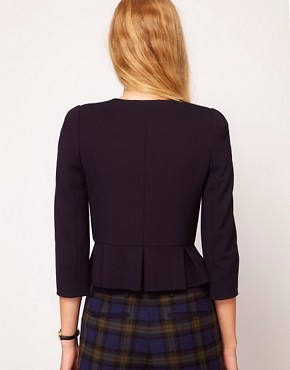 Image 2 ofNW3 Fitted Ponti Jacket with Peplum